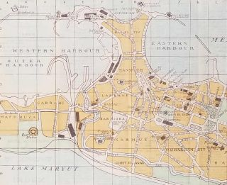 Pocket Map of Alexandria. EGYPT - ALEXANDRIA