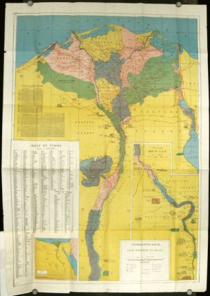 Tourist map of Egypt. Map title: Communication Map of Arab Republic of Egypt. EGYPT.