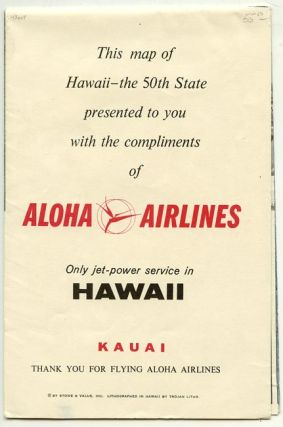 This map of Hawaii - the 50th State presented to you with the compliments of Aloha Airlines.