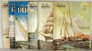 The Rudder. The Magazine for Yachtsman. 1945 - 1947 GROUP OF SIX INDIVIDUAL ISSUES. YACHTING