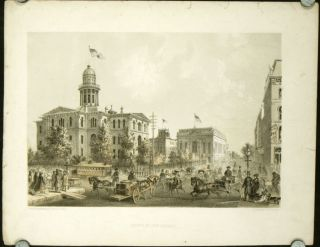 "Court House Square. [ORIGINAL PRINT from ""Chicago Illustrated""]. ILLINOIS - CHICAGO - ARCHITECTURE"