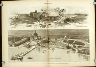 Columbian Exposition: Four Complete Issues of Harper's Weekly: 1891.