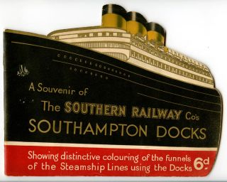 A Souvenir of the Southern Railways Co's Southampton Docks. ENGLAND - SOUTHAMPTON DOCKS.
