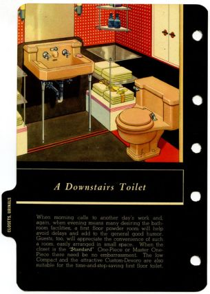 An Authoritative Catalogue of Plumbing Fixtures for Every Need, Code and Standard of Equipment.