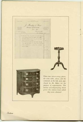 A Guide to English and French Furniture of the Eighteenth Century. FURNITURE AND ACCESSORIES