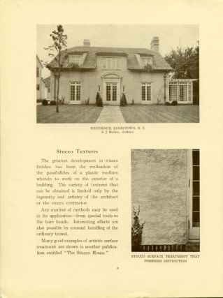 Information for Home Builders. CEMENT 1920s BUILDING MATERIALS: BRICK, STUCCO, MARBLE