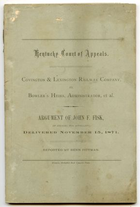 Covington & Lexington Railway Company vs. Bowler's Heirs, Administrator, et al. (Kentucky Court...