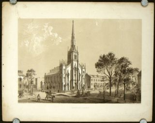 "Universalist Church. [ORIGINAL PRINT from ""Chicago Illustrated""]. ILLINOIS - CHICAGO"