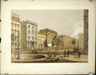 "LaSalle Street from Court House Square. [ORIGINAL PRINT from ""Chicago Illustrated""]. ILLINOIS -..."