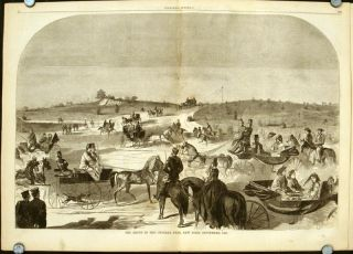 The Drive in Central Park, New York, September, 1860 IN COMPLETE ISSUE OF HARPER'S WEEKLY. NEW...