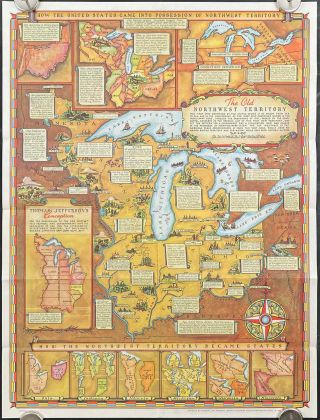 Historical Map of the Old Northwest Territory. (Map title: The Old Northwest Territory)....
