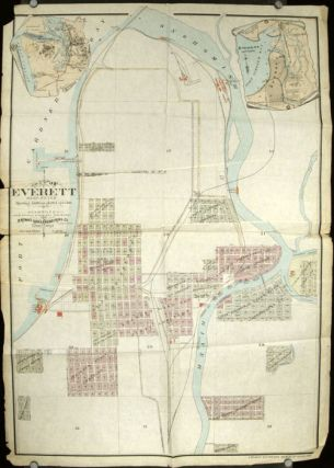 Map of Everett Washington Showing Additions Platted up to date.
