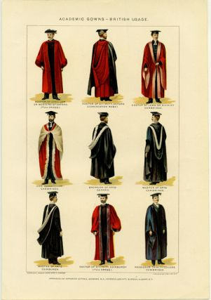 Academic Gowns - British Usage. ENGLAND - UNIVERSITIES