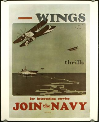 "U.S. Navy Recruiting Posters. Set of 20. [Incl ""Yangtze River Gunboats,"" ""The Navy Needs You!..."