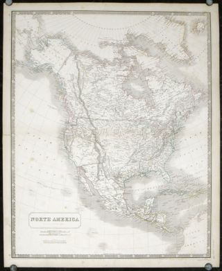 North America. NORTH AMERICA - OREGON TERRITORY BORDER
