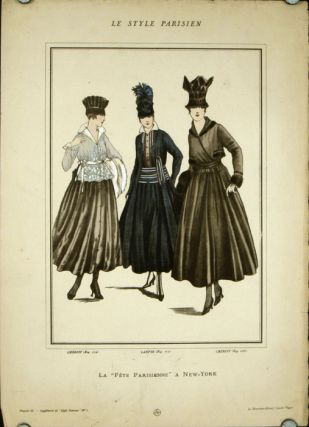 "La ""Fete Parisienne"" a New-York. Le Style Parisien. 1910s FASHION, Lucien Vogel"