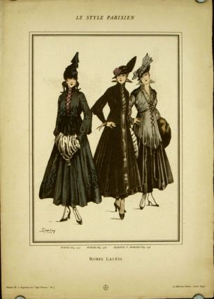 Robes Lacees. Le Style Parisien. 1910s FASHION, Lucien Vogel