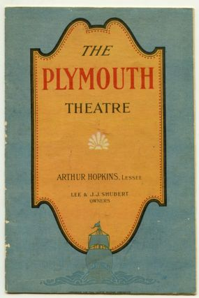 The Plymouth Theatre. What Price Glory? (Program). VINTAGE THEATRE PROGRAM, Maxwell Anderson,...