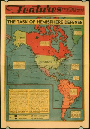 The Task of Hemisphere Defense. Oregon Journal. July 21, 1940. WESTERN HEMISPHERE - WORLD WAR II.