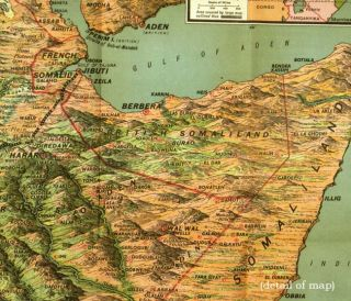 Daily Mail Picture Map of Abyssinia.