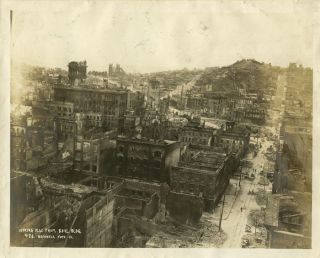 PHOTOGRAPH San Francisco, California. Looking N.W. from the Kohl Building. CALIFORNIA - SAN...