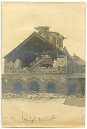 Stanford University Memorial Church PHOTOGRAPH 1906 San Francisco earthquake. CALIFORNIA - SAN...
