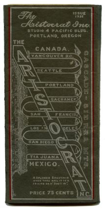 The Aristocrat Inc. [highway map from Vancouver B.C. to Tia Juana, Mexico].