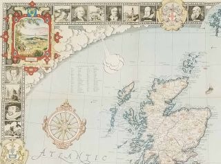 A Modern Pilgrim's Map of the British Isles or More Precisely The Kingdom of Great Britain and Northern Ireland and The Irish Free State.