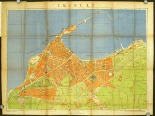 Street Guide and Map of Tripoli (Libya). LIBYA - TRIPOLI