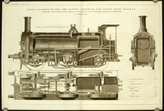 Goods Locomotive for the London, Brighton, and South Coast Railway. Constructed at the Company's...
