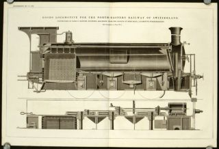 Goods Locomotive for the North-Eastern Railway of Switzerland. Constructed by Herr E. Kessler,...