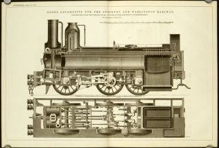 Goods Locomotive for the Stockton and Darlington Railway. Constructed from the Designs of Mr....