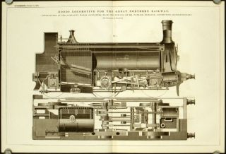 Goods Locomotive for the Great Northern Railway. Constructed at the Company's Works Doncaster,...