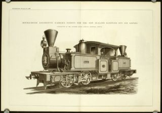 Double-Bogie Locomotive (Fairlie's Patent) for the New Zealand Railways (3-Ft. 6-In. Gauge)....