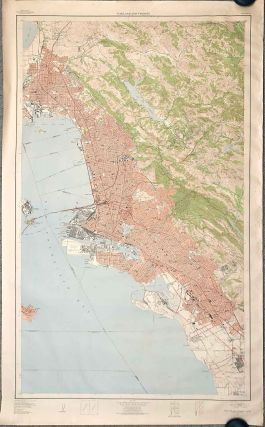 Oakland and Vicinity. [HUGE MAP 1947]. CALIFORNIA - OAKLAND
