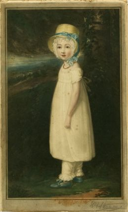 Pair of untitled prints - Boy in Blue / Girl in White.