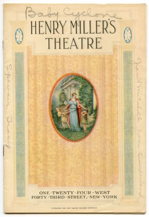 "Henry Miller's Theatre. ""The Baby Cyclone"" (Program). VINTAGE THEATRE PROGRAM, George M...."