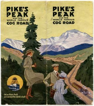 Pike's Peak Via the World Famous Cog Road. COLORADO