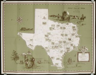 A Map of Historical Homes and Buildings Throughout Texas. TEXAS