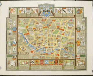 Leeds from A.D. 1625 - The Year of the Royal Charter Granted by King Charles the First. ENGLAND -...