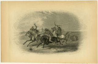 Horse Racing of the Sioux ]. NATIVE AMERICAN INDIANS