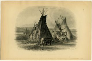 A Skin Lodge of an Assiniboine Chief ]. NATIVE AMERICAN INDIANS