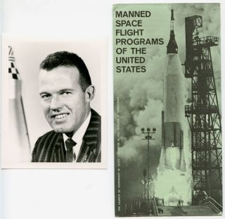 Manned Space Flight Programs of the United States. With PHOTO OF ASTRONAUT L. GORDON COOPER, JR....