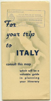 For your trip to Italy consult this map which will be a valuable guide in planning your itinerary.