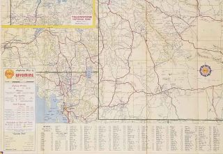 Shell Map of Wyoming.