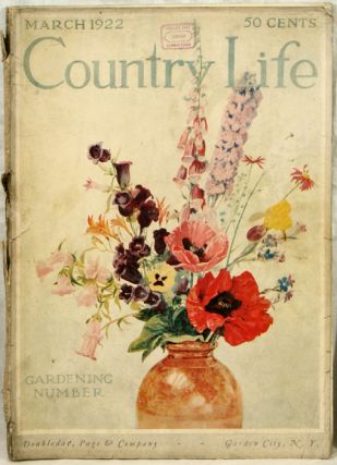 Country Life. 1922 - 03. ARCHITECTURE / INTERIOR DESIGN MAGAZINE