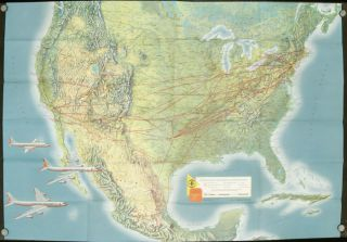 American Airlines Lot of Items: System Map; Plane Tickets; brochure. AMERICAN AIRLINES