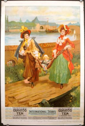A Lift Homeward. The Tea of Today is Ceylindo Tea. A Perfect Tea. Calendar 1906. TEA 1906 LARGE...