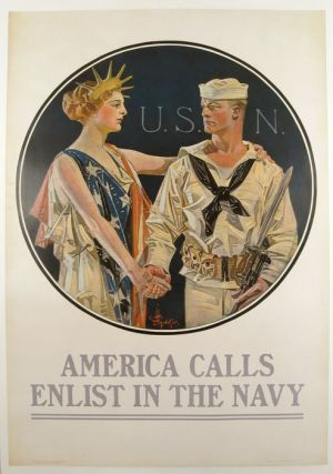 America Calls Enlist in the Navy. U S. NAVY - RECRUITMENT