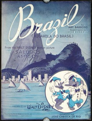 "Brazil (Aquarela Do Brasil). From the Walt Disney motion picture ""Saludos Amigos"" DISNEY - SHEET..."
